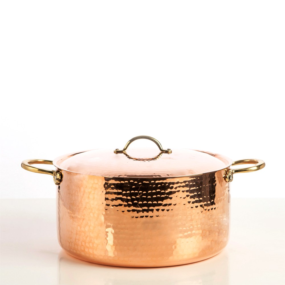 5400-30-copper-pot-with-lid-hammered-finish-square