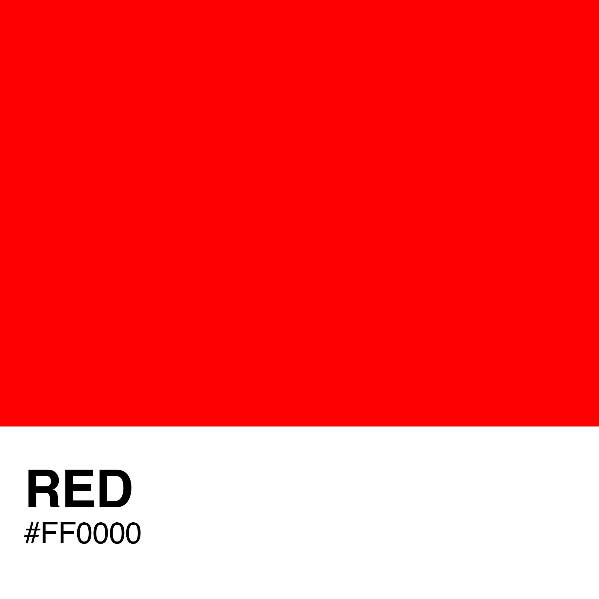 Какой цвет ff0000