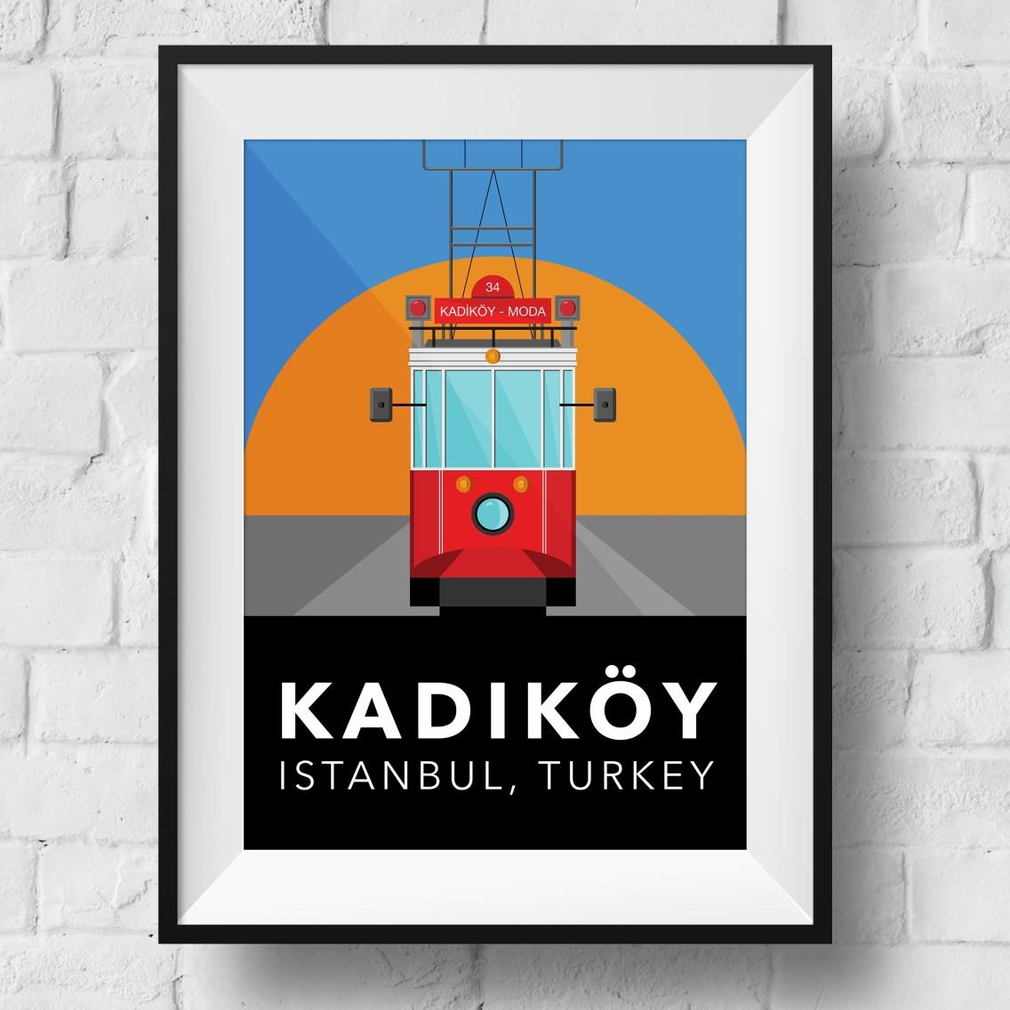 kadikoy-tram-poster-framed