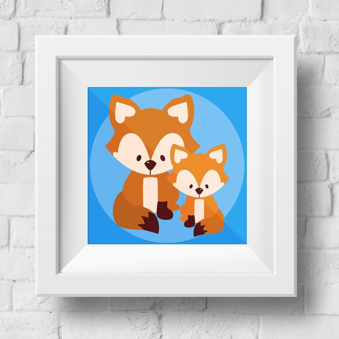 baby-fox-framed