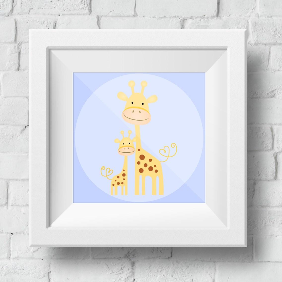 baby-giraffe-framed