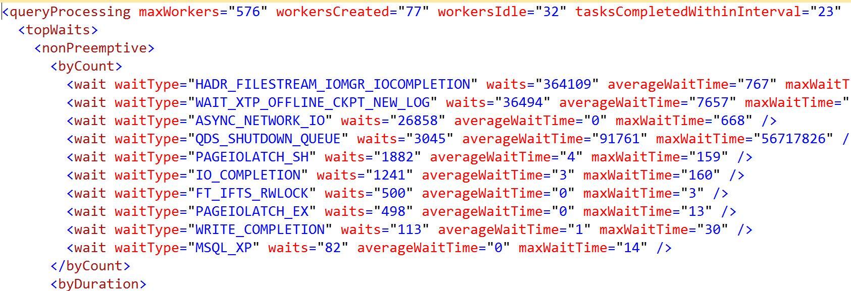 queryprocessing xml