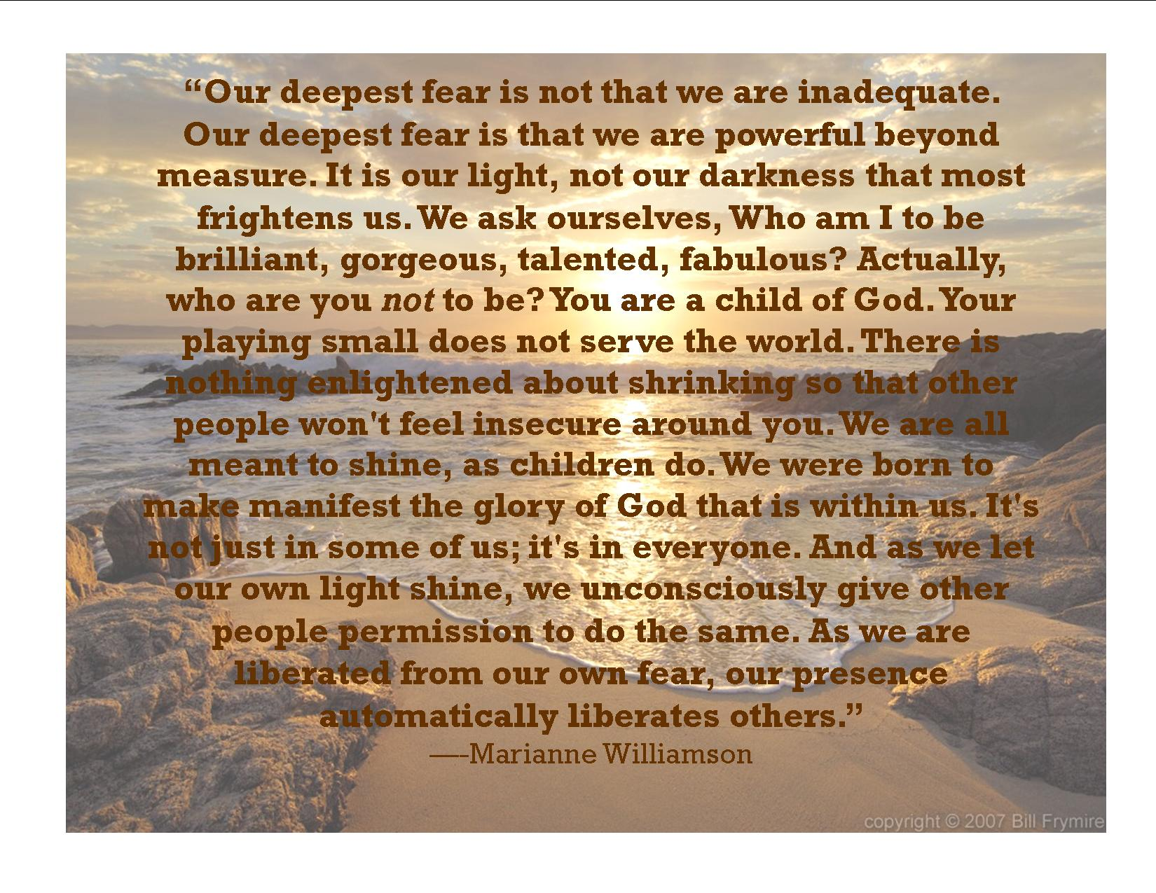 Are Deepest Fear Coach Carter
