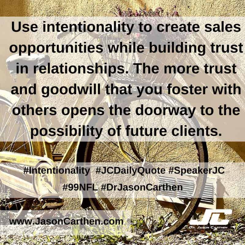 Dr. Jason Carthen: Intentionality