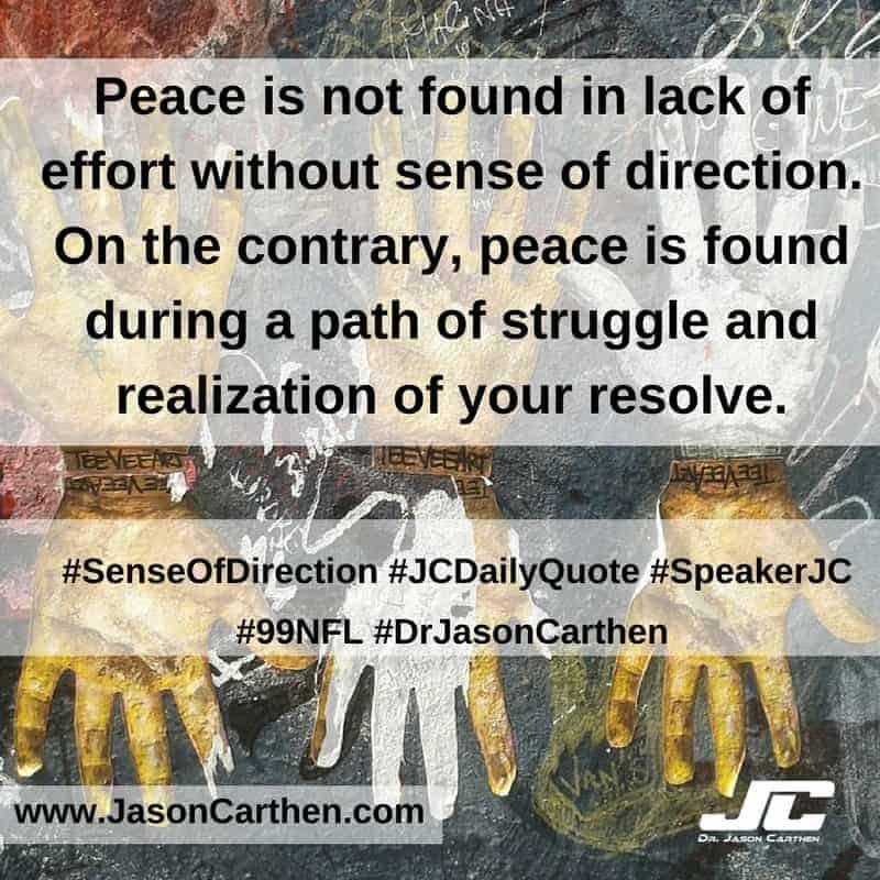 Dr. Jason Carthen: Sense of Direction