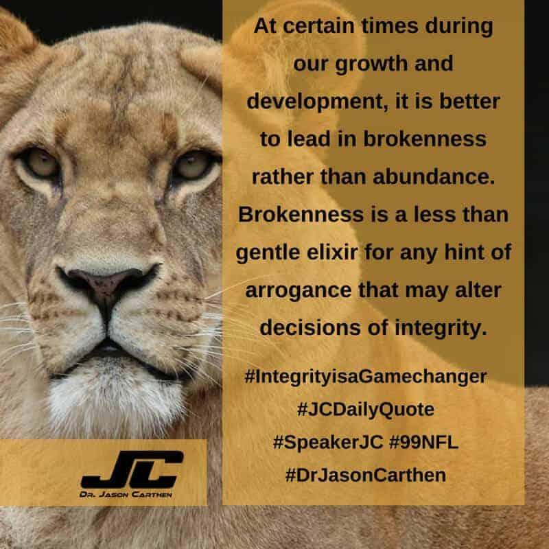 Dr. Jason Carthen: Integrity is a Game changer