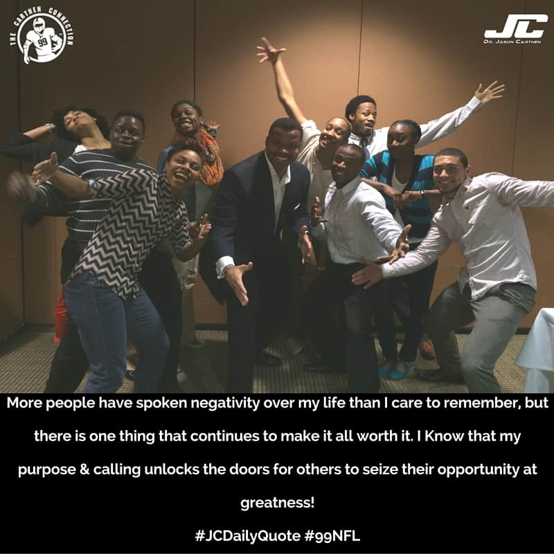 Dr. Jason Carthen: JCDaily Quote