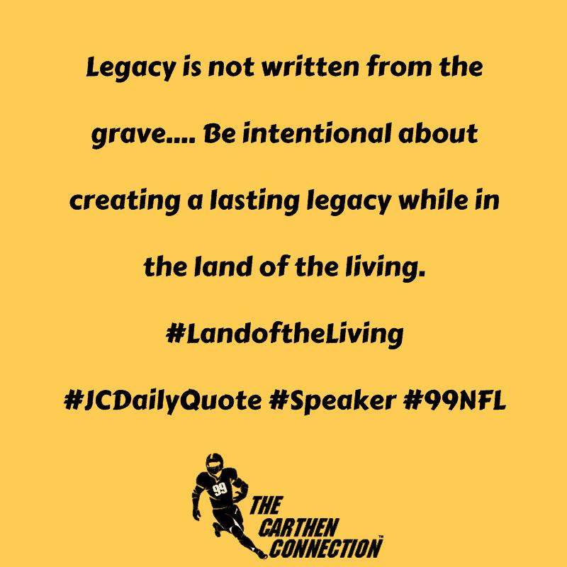 Dr. Jason Carthen: Legacy