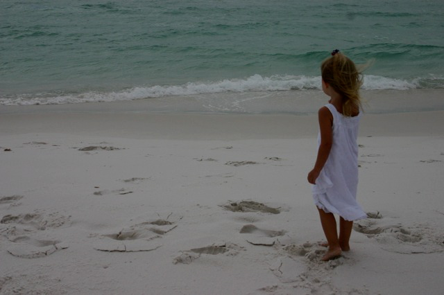 (Abby watching the waves)