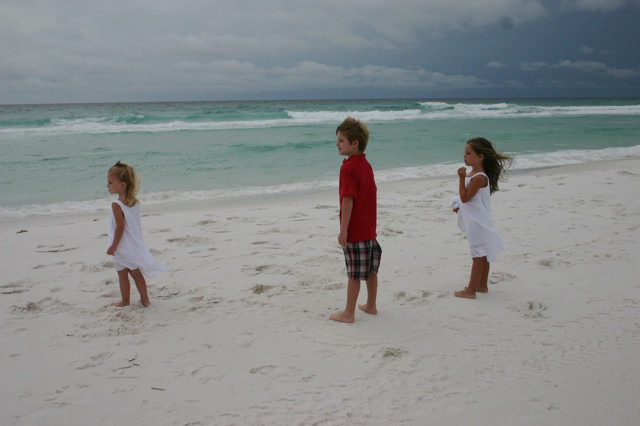 (the older three looking out at the water)