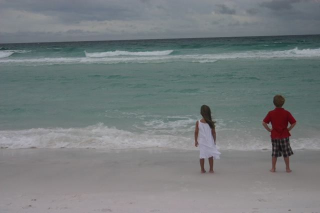 (Katey and Caleb watching the waves together)