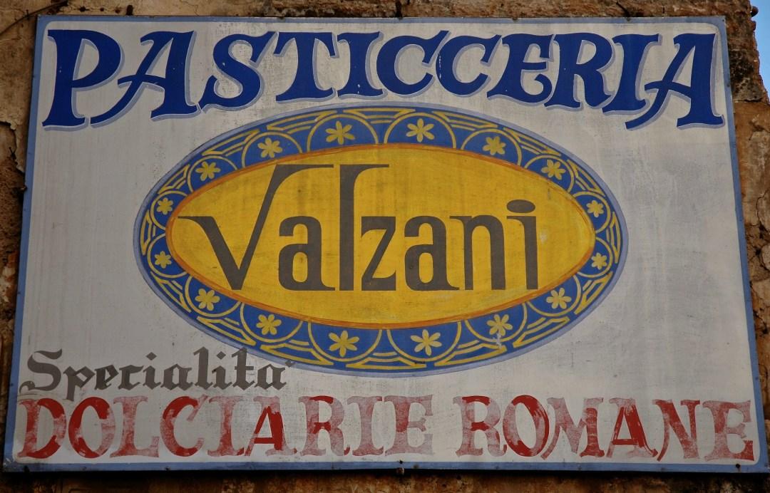 valzani pasticceria sign