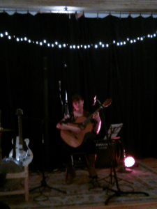 Laura Boswell played several beautiful classical guitar pieces.