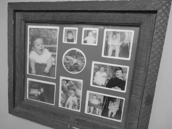 College of baby/childhood photos, originally hung in my parents' house