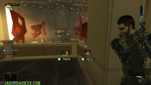 Deus Ex Human: Revolution Directors cut-taking cover