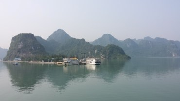 Arriving to Cat Ba Island