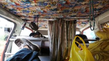 Inside Vale's Van