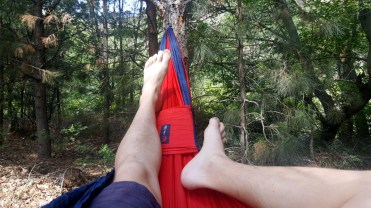 Hammock with Feet Out