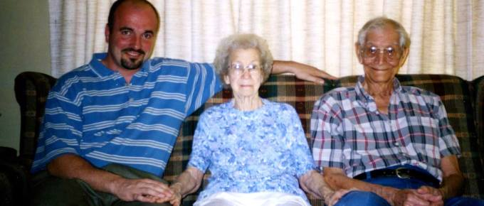 Jason with Grandma and Gramps (Ken & Hazel Hobbs)