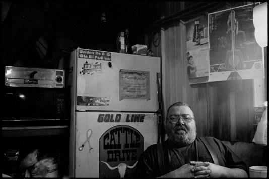 """Donavon """"Howie"""" Seboe, diesel mechanic at work, circa 2016"""