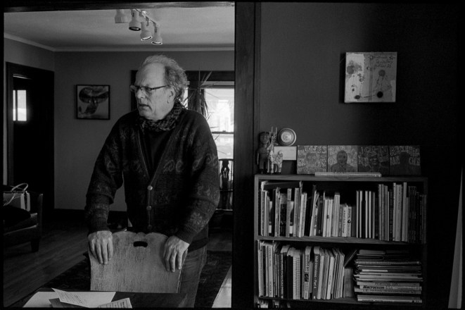 Dr. Stephen Perkins, curator, at his home in Madison, WI 2019