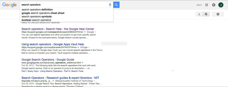 Google search operator bookmarklets - Jason Jalbuena