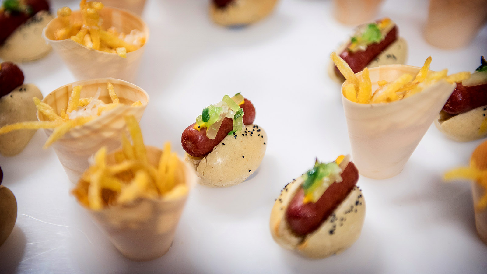 Late Night Wedding Snacks Food Mini Hot Dogs French Fries