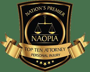 NAOPIA: Top Ten Attorney, Personal Injury.