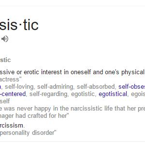 nar·cis·sis·tic