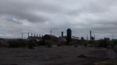 The steel mill was built in the 1880s and was the biggest producer of steel west of the Mississippi