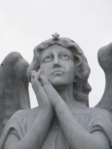 crying angel close-up