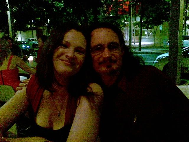 angela slatter and me at dinner