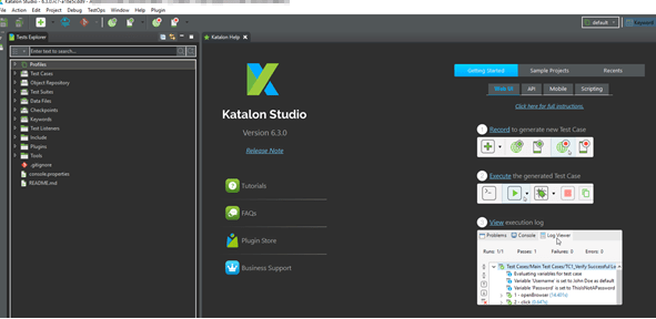 Katalon Studio 6.3.0 Features