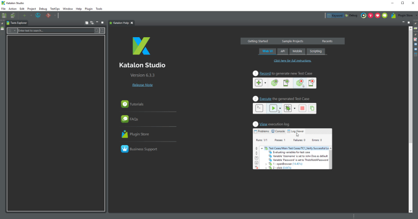 Adopting Katalon for UI Tests