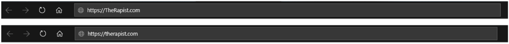 Upper vs Lower Case Domain Names