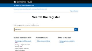 Companies House service