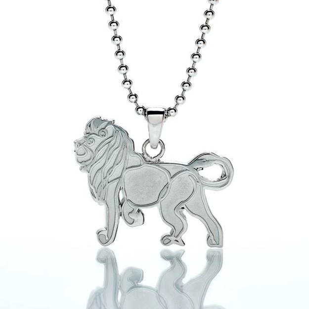 'Lion' Sterling Silver Pendant
