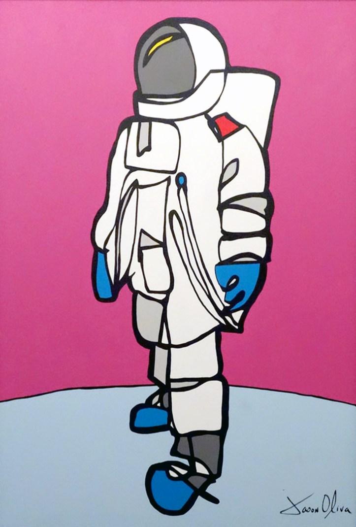 Painting Astronaut Jason Oliva 2010