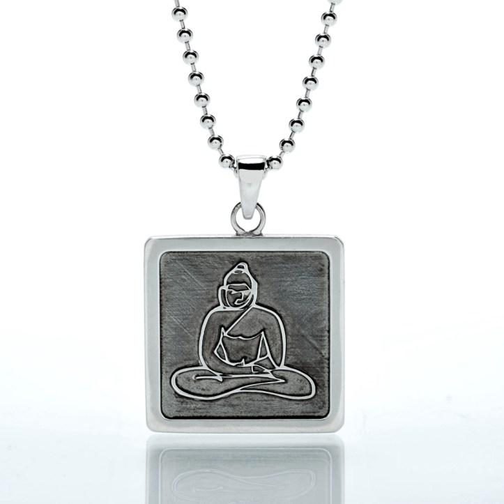 Jason Oliva Sterling Silver Buddha Pendant