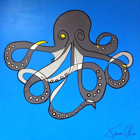 Painting jason Oliva Octopus