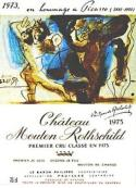 Artist wine label Pablo Picasso 1973 Chateau Mouton Rothschild