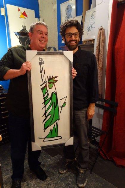 Elvis Duran Jason Oliva open studio Statue of Liberty