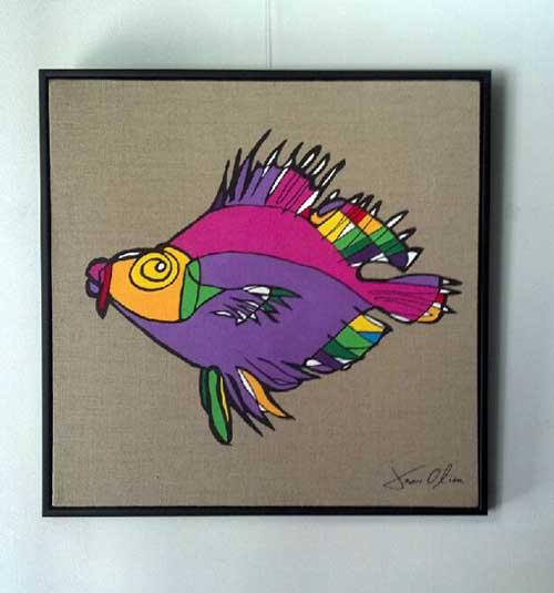 Fish Painting Jason Oliva 2010