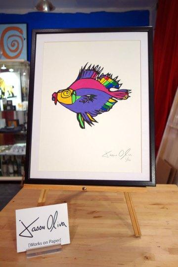 Fish Painting Jason Oliva 2010 Work on paper