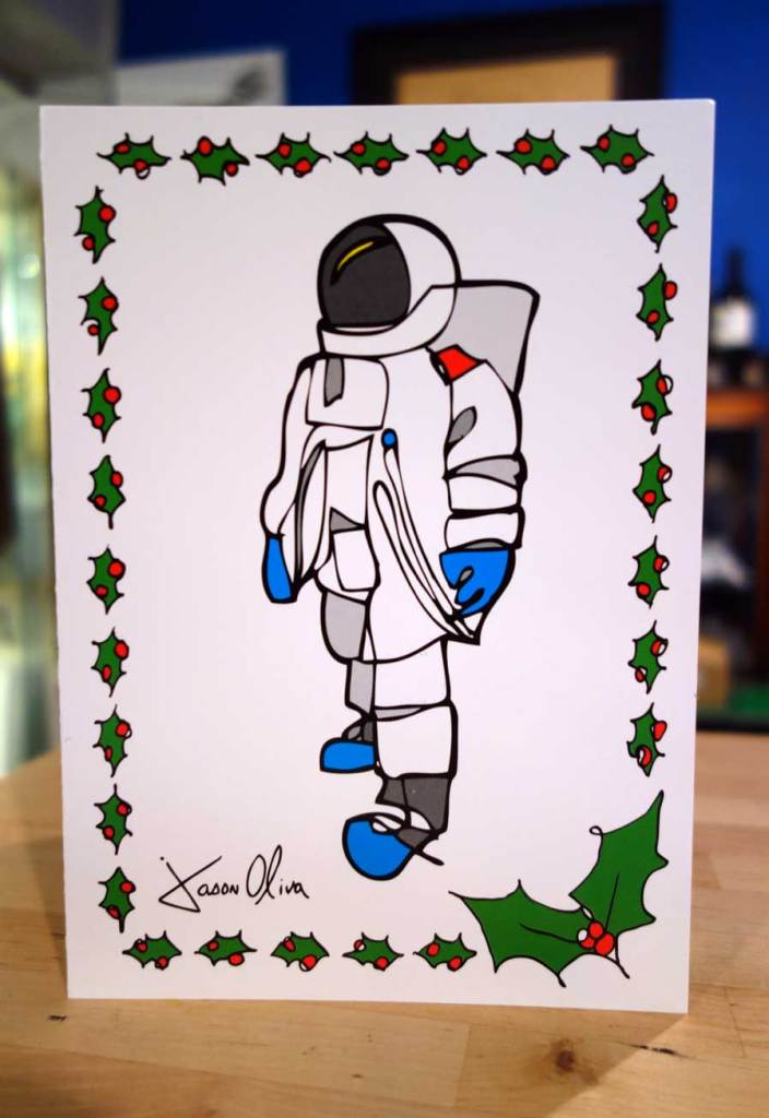 Holiday Card Astronaut Jason Oliva