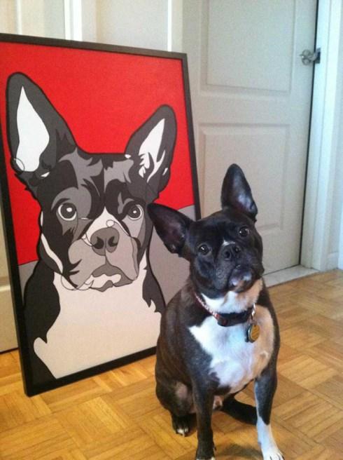 Dog Portrait jason-oliva-bronx-sophie-oliva-artist-commissions