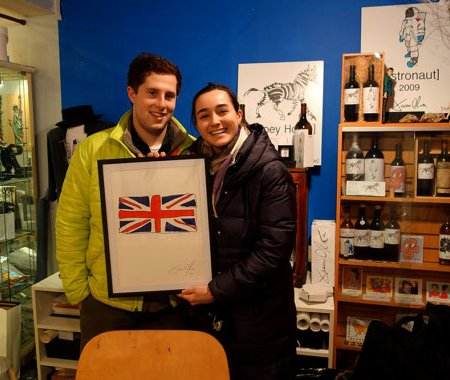 Jason Oliva Studio British Flag work on paper painting