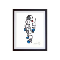 Astronaut Work on Paper Jason Oliva painting print art