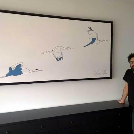 Seabirds Jason Oliva Painting