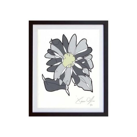grey flower work on paper jason oliva